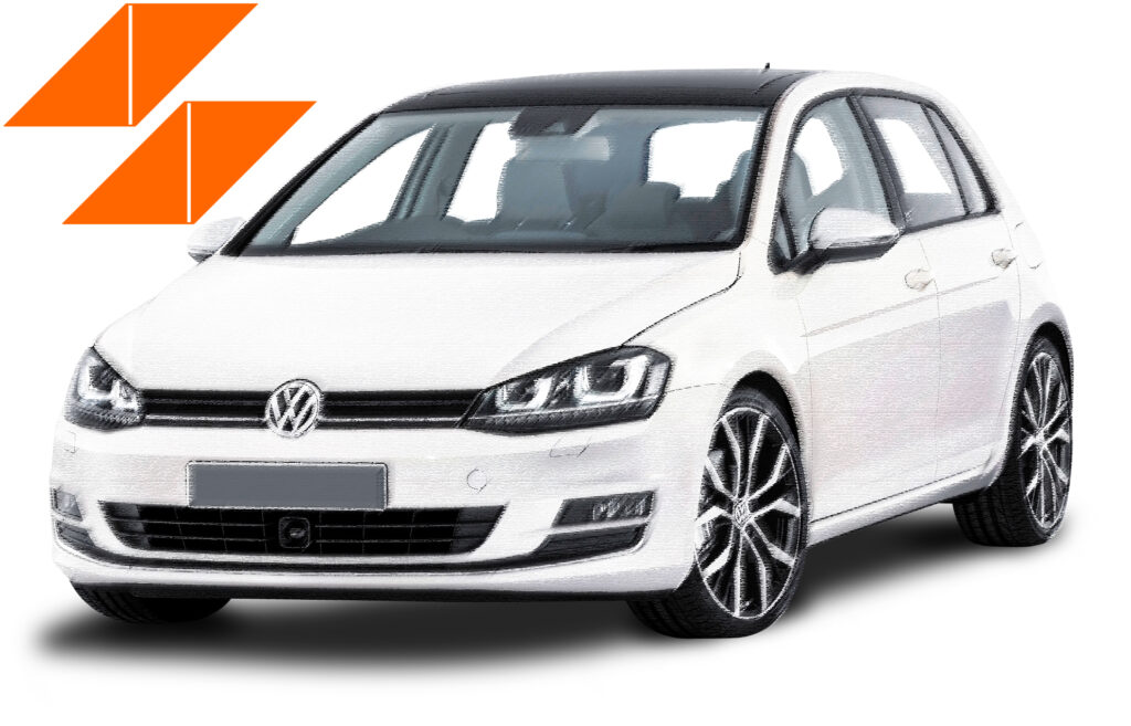 servicii de rent a car pentru autovehicul volkswagen golf